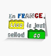 French Lego Greeting Card