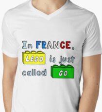 French Lego Men's V-Neck T-Shirt