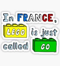 French Lego Sticker