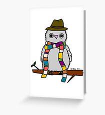 Dr Hoo Greeting Card