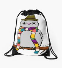 Dr Hoo Drawstring Bag