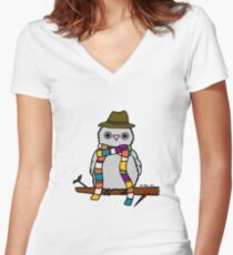 Dr Hoo Women's Fitted V-Neck T-Shirt