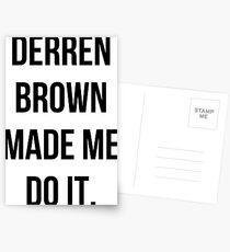 Derren Brown Made Me Do It Postcards