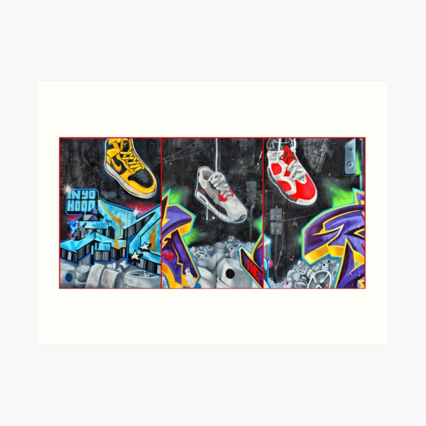 Sneakers. Bondi graffiti Art Print