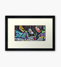 Sneakers. Bondi graffiti Framed Print