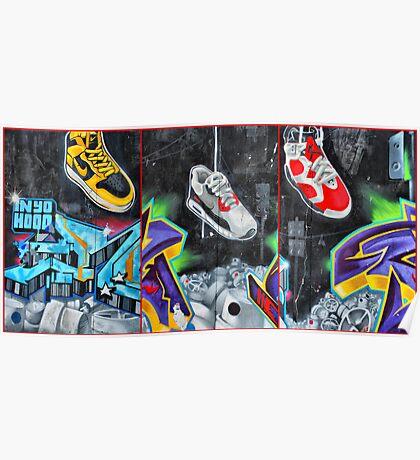 Sneakers. Bondi graffiti Poster