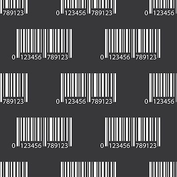 Barcode with numbers pattern background by naum100