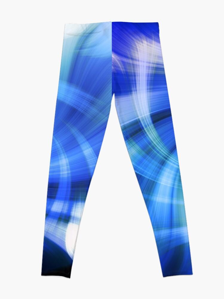 Alternative Ansicht von blauer Wirbel Leggings