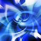 blauer Wirbel von Stefanie Keller