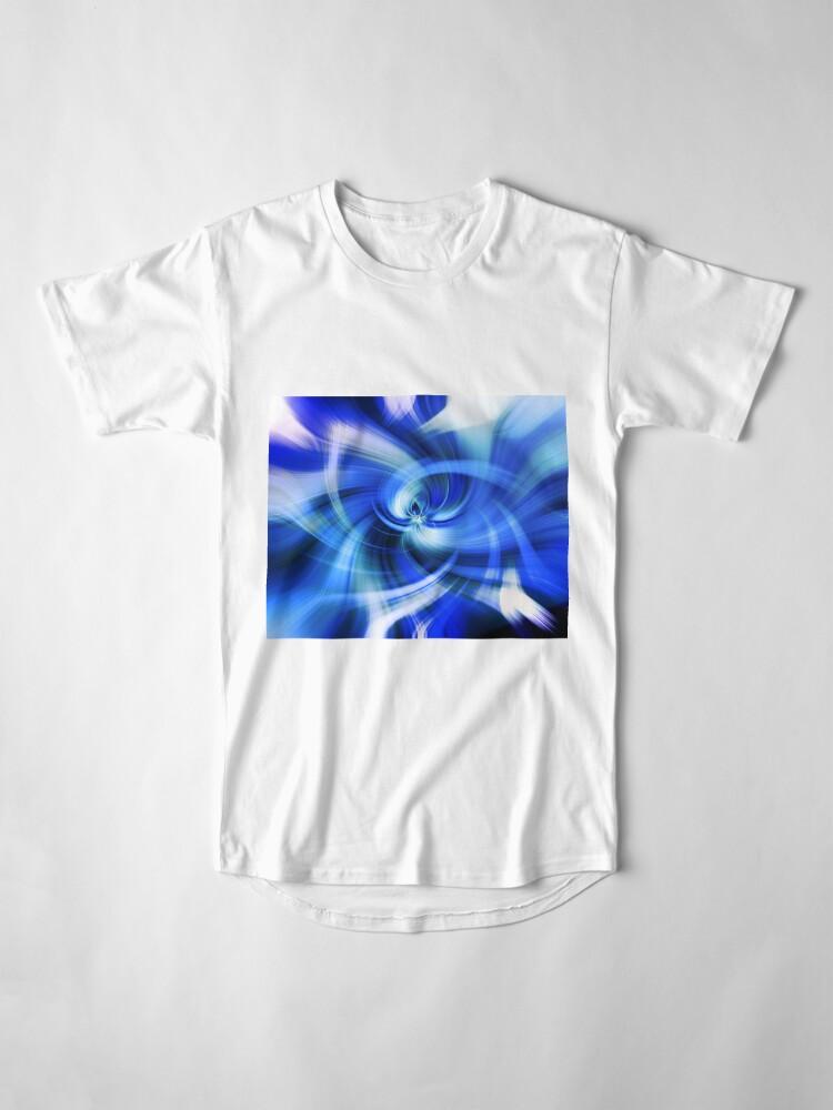 Alternative Ansicht von blauer Wirbel Longshirt
