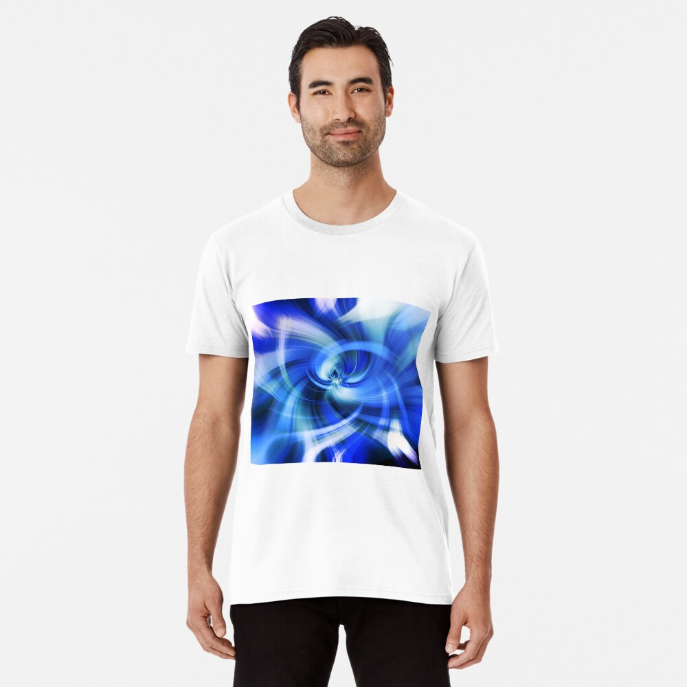 blauer Wirbel Premium T-Shirt