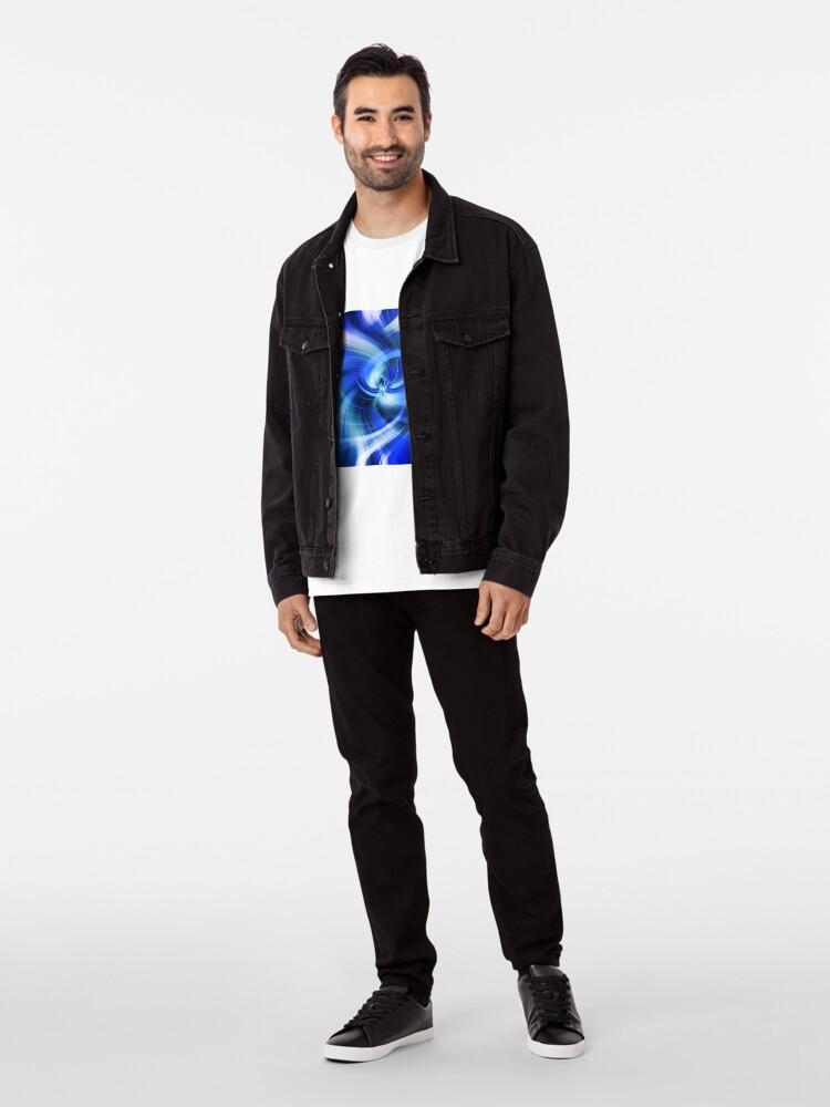 Alternative Ansicht von blauer Wirbel Premium T-Shirt