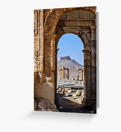 Palmyra; the desecration continues  Greeting Card