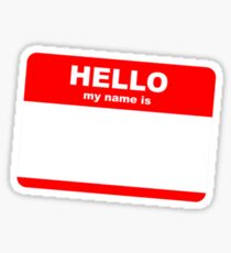 Hi, my name is ........ Sticker