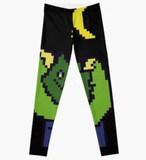 Moonlight Monster Pixel Art Leggings