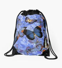 Composition With Echoed Butterflies #3 Drawstring Bag