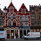 Street Scene - Bruges, Belgium by rjhphoto