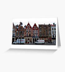 Street Scene - Bruges, Belgium Greeting Card