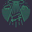 Alien Abduction Monoline by DOODL