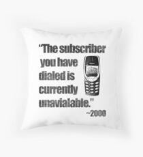 2000s Calling Throw Pillow