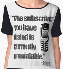 2000s Calling Chiffon Top
