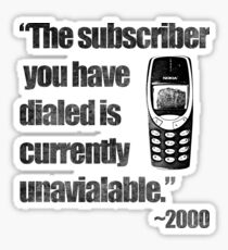 2000s Calling Sticker