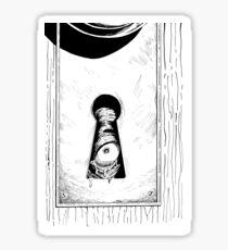 Eye of the Keyholder Horror Art Sticker