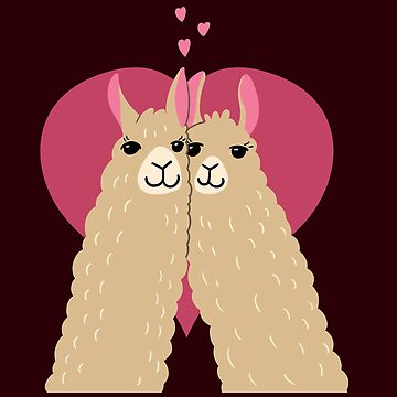 Alpaca Lovers Heart | Llama Cute by Kittyworks