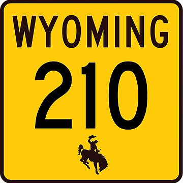 Wyoming Highway WYO 210 | Happy Jack Road | United States Highway Shield Sign by djakri
