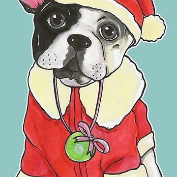 Christmas French Bulldog gift Bouledogue Français LMT CHRISTMAS 2018 - T-Shirt - mugs - stickers by MUMtees