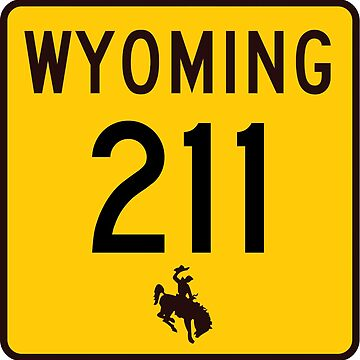 Wyoming Highway WYO 211 | Horse Creek Road; Iron Mountain Road | United States Highway Shield Sign by djakri