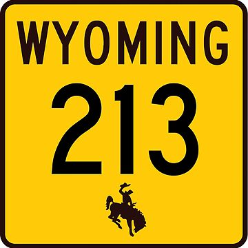 Wyoming Highway WYO 213 | Burns Road | United States Highway Shield Sign by djakri