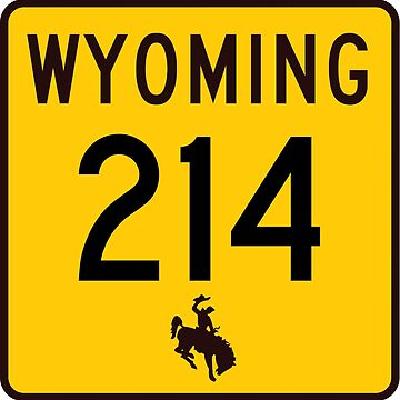 Wyoming Highway WYO 214 | Carpenter Road | United States Highway Shield Sign by djakri