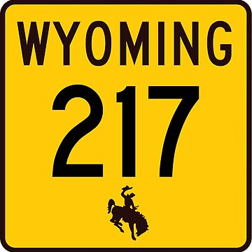 Wyoming Highway WYO 217 | United States Highway Shield Sign by djakri