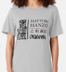 Kill Bill - Hattori Hanzo Ad - Black Slim Fit T-Shirt