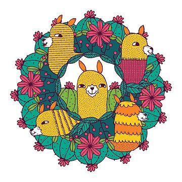 Llama Mandala by soondoock