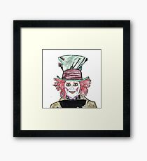 Tim Burton, Hand drawing, Alice in Wonderland, Quotes, Gifts, Presents, Decor, Pencil drawings, Doodles, Cinema, Culture, Hobbies Framed Print