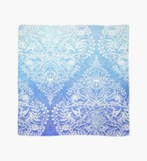 Out of the Blue - White Lace Doodle in Ombre Aqua and Cobalt Scarf