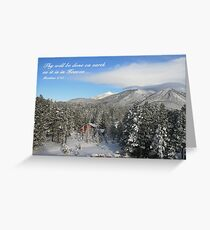 Winter Card with Snow, Red House Greeting Card