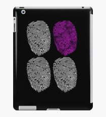 quad fingerprint purple iPad Case/Skin