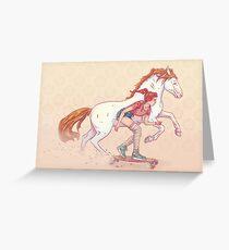 Signe du cheval Greeting Card