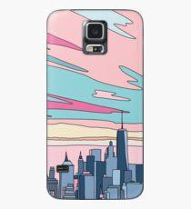 Stadtsonnenuntergang bei Elebea Hülle & Klebefolie für Samsung Galaxy
