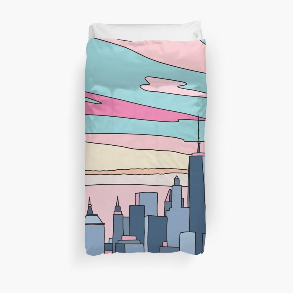 City sunset by Elebea Duvet Cover