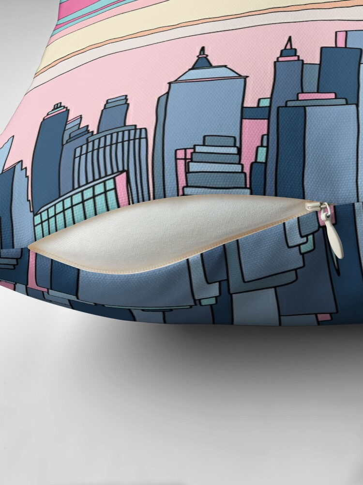 Alternate view of City sunset by Elebea Floor Pillow