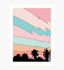 Beach sunset by Elebea Art Print
