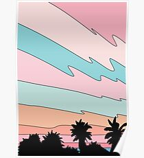Beach sunset by Elebea Poster