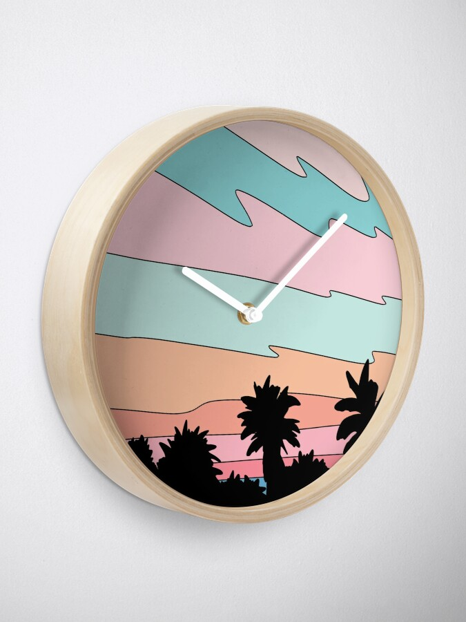 Alternate view of Beach sunset by Elebea Clock