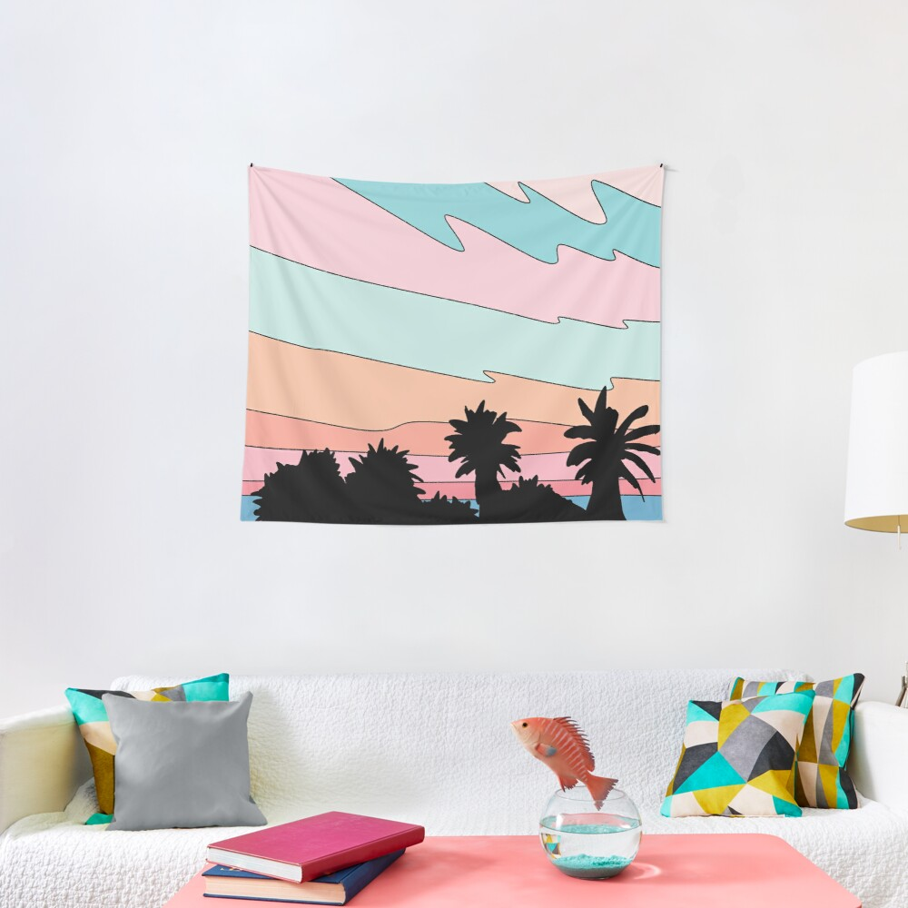 Beach sunset by Elebea Tapestry