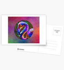 Cosmic Flamingo Postcards