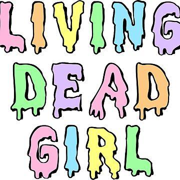 Lebendes totes Mädchen (Pastell) von princessbedelia